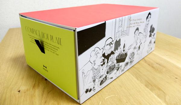 ブルーノホットプレートの箱