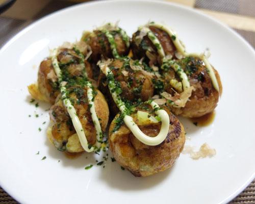 【ブルーノホットプレートのたこ焼きレシピ】たこ焼き完成