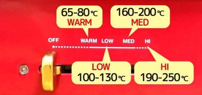 温度|ブルーノコンパクトホットプレート