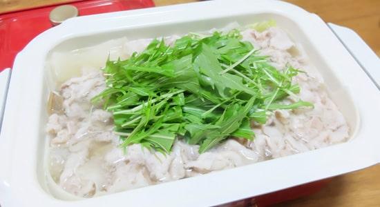 豚バラ大根鍋の様子|ブルーノコンパクトホットプレート