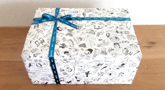 包装紙付きの箱|ブルーノオーバルホットプレート