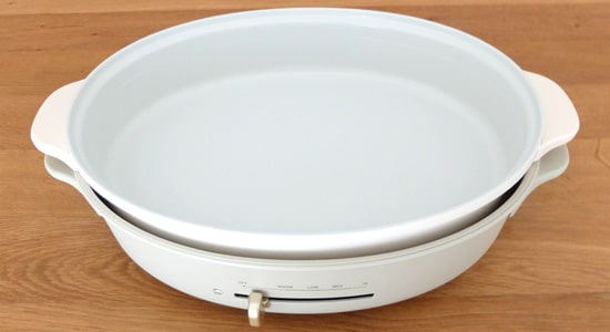 ブルーノオーバルホットプレート用深鍋