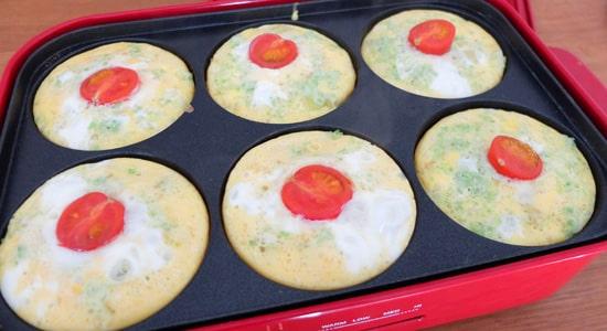 スパニッシュオムレツの完成|ブルーノコンパクトホットプレートのレシピ