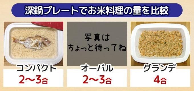深鍋プレートでのお米料理の比較|BRUNOホットプレート