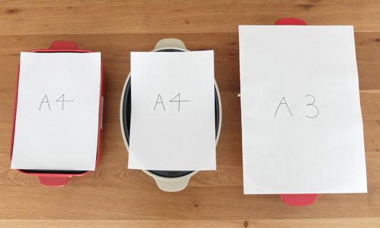 目安とされているサイズはA4,A3サイズ|ブルーノホットプレート